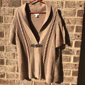 Christopher & Banks • brown/taupe cardigan sweater
